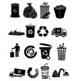 Garbage icons set vector image