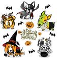 Halloween Little Dog Little Devil vector image