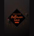 halloween sale design poster vector image