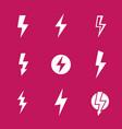 lightning bolts warning signs vector image