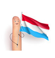 Luxembourg flag waving vector image