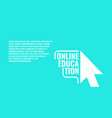 online education in flat vector image