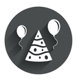 Party hat sign icon Birthday celebration symbol vector image