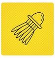 Shuttlecock icon Badminton sport equipment vector image