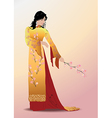 Young asian woman vector image