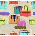 seamless suitcases vector image vector image