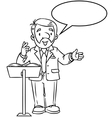 Funny university lecturer With balloon for text vector image