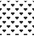 tshaped crossroad pattern vector image