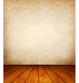 Old wall and a wooden floor vector image