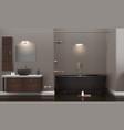 realistic bathroom interior design vector image