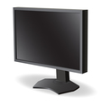 Black lcd tv monitor on white background vector image vector image