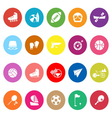 Extreme sport flat icons on white background vector image