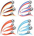germany greece france spain flag set with soccer vector image vector image