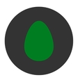Egg flat green and gray colors round button vector image
