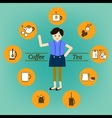 Coffee Tea drink and beverage infographic vector image