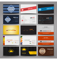 Fifteen colorful business cards vector image vector image