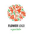 Flower logo 004 vector image