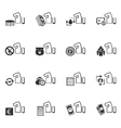 Hand and money icons set vector image
