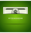 Dollars money vector image vector image