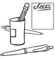 black and white pencils vector image