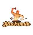blacksmith logo smithy or industry icon vector image