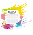 colorful grunge banner vector image