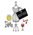 Fashionable Paris vector image