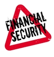 Financial Security rubber stamp vector image