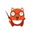 Funny character baby bulldog vector image