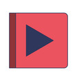 play button icon in colorful silhouette vector image