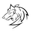 wolf loggo design vector image