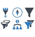 Sales Filter Flat Icons vector image