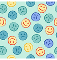 Happy and sad face pattern vector image