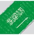 Saudi Arabian grunge flag vector image