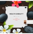 Health and beauty template vector image vector image