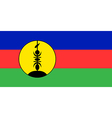 Flag of New Caledonia vector image