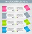 Modern infographics colorful design template with vector image