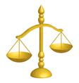 justice scales vector image vector image