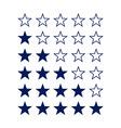 Stars rating vector image