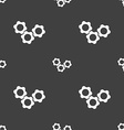 gears icon sign Seamless pattern on a gray vector image