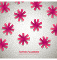 Paper Flowers Background vector image vector image