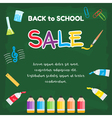 Event Back to School Sale green chalkboard vector image
