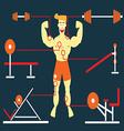 Body Building Man vector image