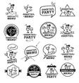 Cocktail party menu vector image