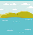 color background lake landscape with mountains vector image