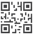 sample qr code ready to scan vector image