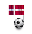 Soccer Balls or Footballs with flag of Denmark vector image