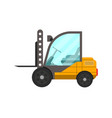 storage forklift truck isolated icon vector image