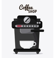 Coffee mug cup machine shop beverage icon vector image