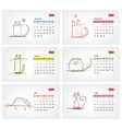 calendar 2012 july Funny cats design vector image